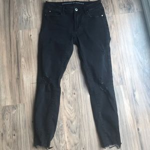 Articles of Society distressed black skinny jean